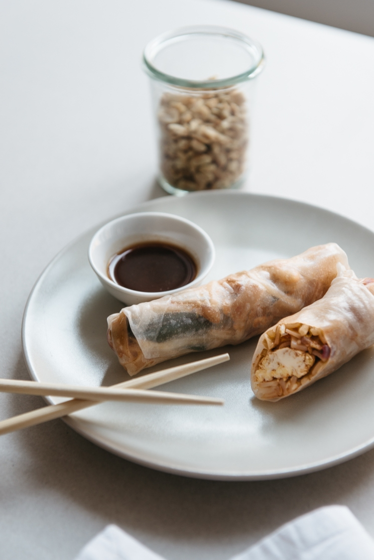 Thai and Techno - pad Thai rolls with tamarind dipping saunce